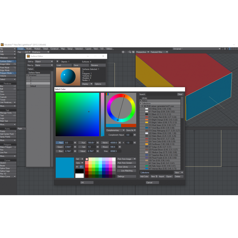 Lightwave colour library