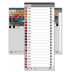 Swatch being used in Illustrator CS