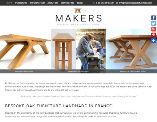 Bespoke Oak Furniture Handmade in France